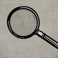 Silvia Colmenares_foto Tesis_Roy Lichtenstein-Magnifying Glass-1963