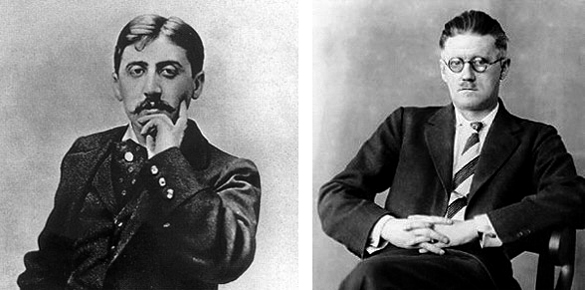 Marcel Proust y James Joyce