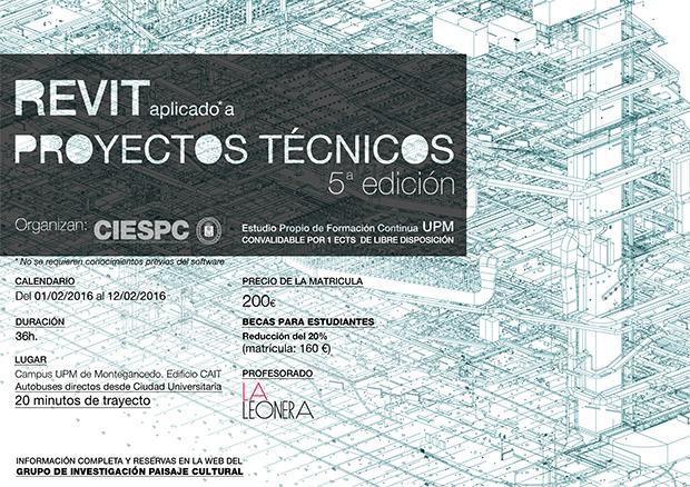 Curso en Madrid de Revit aplicado a proyectos técnicos