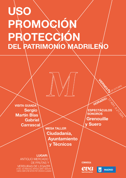 Cartel Uso Promoción y protección del patrimonio madrileño