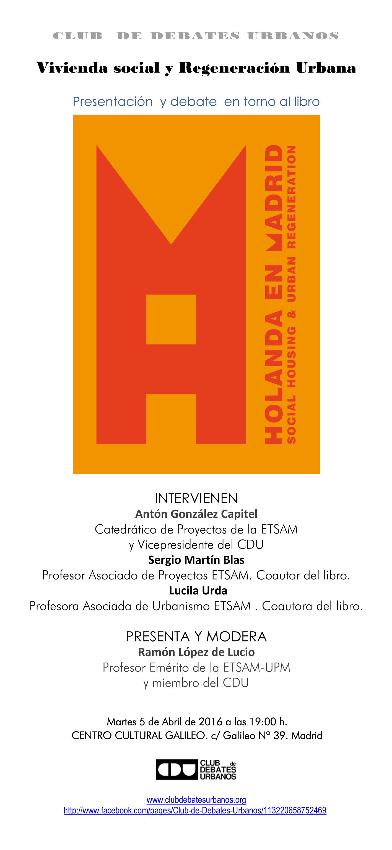 Presentacion Libro Holanda en Madrid CDU