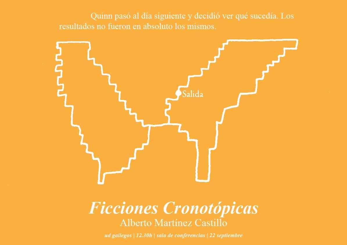 cartel FICCIONES CRONOTÓPICAS Y